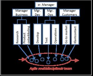 Figuur: Voorbeeld multidisciplinair zelforganiserend team